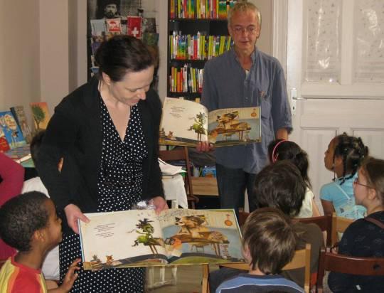 Autor Jens Sparschuh in der Buchhandlung Ferlemann und Schatzer