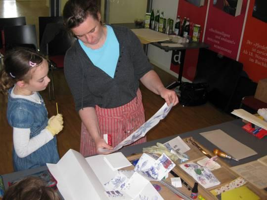 Workshop mit der Illustratorin Kristina Andres im Aufbau-Verlag